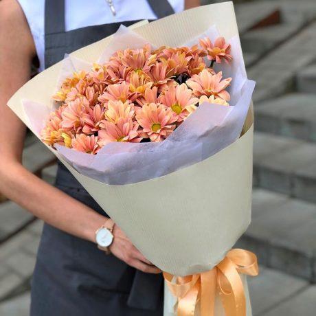 Букет из 5 кустовых хризантем