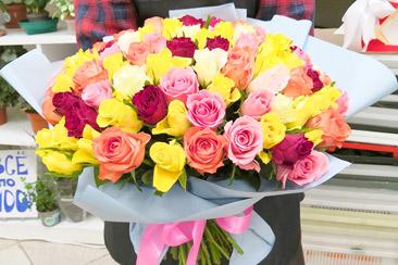 Баннер акции на цветы