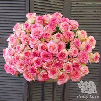 Букет из 61 розы Джумилия