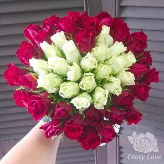 Букет сердце из кенийских роз